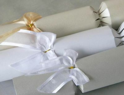White/Ivory/Silver Pearl Wedding Fill Your Own Bespoke Crackers X 25  • 15.99£