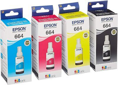 Genuine Original Epson EcoTank Multipack 664 Ink ET-2600, ET-2650-VAT INCLUDED • 30.49£