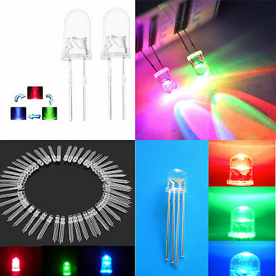 £1.70 • Buy Round LED 5/8/10mm RGB Common Anode/Cathode Fast/Slow Rainbow Blink ATF