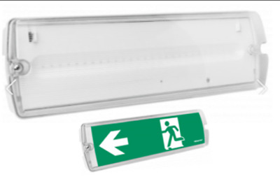 LED Emergency Light Fitting 4.5W Watt Maintained/Non-Maintained Bulkhead IP65. • 15.77£