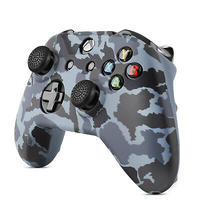 $6.99 • Buy Xbox One / One S Silicone Gel Controller Skin Set W/ Thumbstick Caps, Camo Black