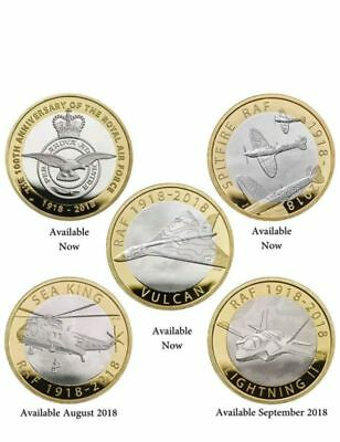 £2 Coins Two Pounds Raf Sea King & Lightning Ii Brilliant Uncirculated In Stock • 24.99£