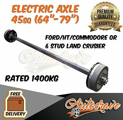 AU424.95 • Buy Trailer Electric Braked Axle 45mm Square 1400kg Caravan 10  Drum Backing Plate
