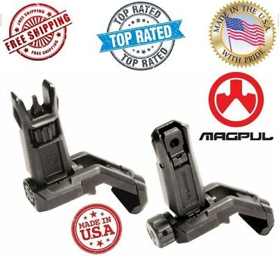 $165.95 • Buy New Authentic MAGPUL MBUS Pro OFFSET Flip-Up FRONT & REAR Sight STEEL- Black