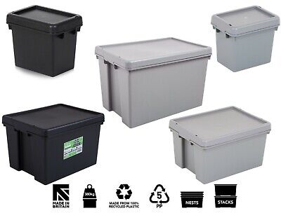 £7.99 • Buy Wham Bam Heavy Duty Plastic Storage Box Boxes With Lids Recycled Plastic UK