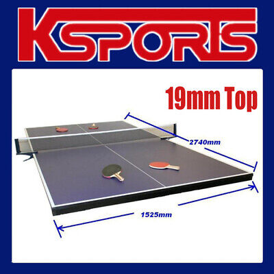 AU428 • Buy Table Tennis Ping Pong Table 19mm Top - Full Size - Placed On Pool Table
