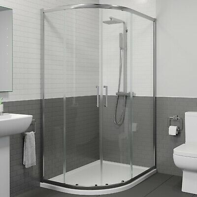 1200 X 900mm LH Offset Quadrant Shower Enclosure Framed 8mm Glass Tray Waste • 299.99£