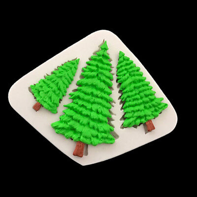 £3.79 • Buy 3 CHRISTMAS TREE Silicone Fondant Cake Topper Mold Mould Chocolate Candy Baking
