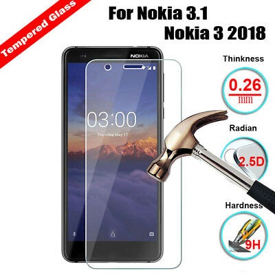 AU3.67 • Buy  Tempered Glass Screen Protector For Nokia 3.1 5.1 6.1 7 Plus 6 X6 2018