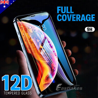 AU7.95 • Buy Apple IPhone 11 Pro XS Max XR X Tempered Glass Screen Protector Full 8 7 6s Plus