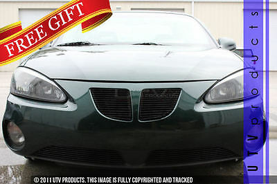 $239 • Buy GTG 2004 - 2008 Pontiac Grand Prix 4PC Gloss Black Combo Billet Grille Grill Kit