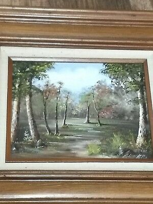 $ CDN107.16 • Buy Esther Keller Painting Trees Framed 10  X 8  Canvas