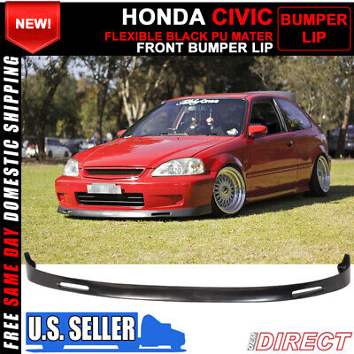 $78.99 • Buy For 99-00 Honda Civic Bys Style Front Bumper Lip