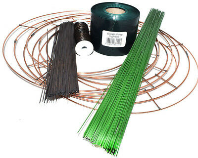 £13.49 • Buy Christmas Wreath Making Ring Kit 10  Rings Binding Wire Stub Wire Wrap Floristry