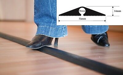 EASYFIT Black Heavy Duty Rubber Cable Floor Protector Trunking Cover Pedestrian • 15.95£