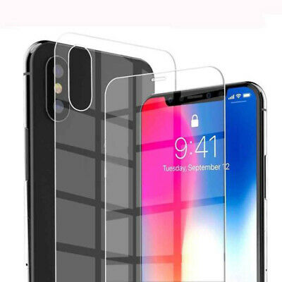 AU2.79 • Buy For IPhone XS Max XR XS X Front / Back Tempered Glass Film Screen Protector HQ