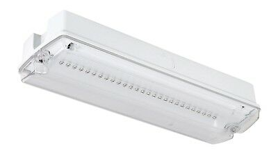 £11.99 • Buy LED Emergency Light Fitting Maintained Or Non-Maintained Bulkhead IP65.