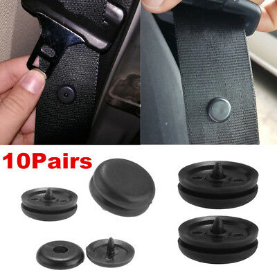 $ CDN1.30 • Buy 10Pairs Universal Clip Seat Belt Stopper Buckle Button Fastener Safety Car Part