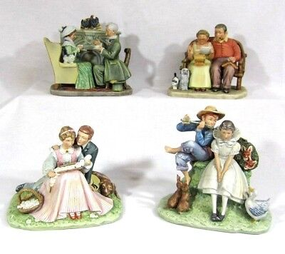 $ CDN519.02 • Buy Norman Rockwell Four Ages Of Love Set Of Four Figurines Gorham First Edition
