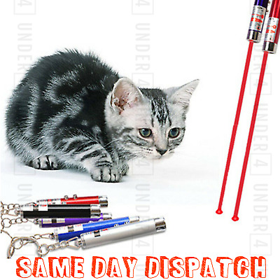 Laser Teaser Pen Cat Pointer Kitten Play Toy Mouse Projecting Flash Fun Exercise • 2.46£