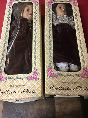 $ CDN12.29 • Buy Crowne Porcelain Doll LOT Of TWO HAND MADE New In Box.