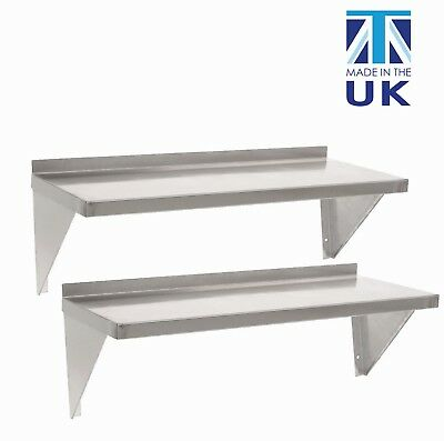 Displaypro Stainless Steel Shelves For Commercial Kitchens (Pack Of 2) • 49.99£