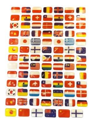 £2.95 • Buy 3x SHEETS KIDS BOYS GIRLS REUSABLE WORLD COUNTRY FLAG SCRAP BOOK STICKERS 270+