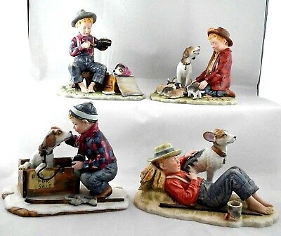 $ CDN519.02 • Buy Norman Rockwell A Boy And His Dog Porcelain Figurine Set Gorham First Edition