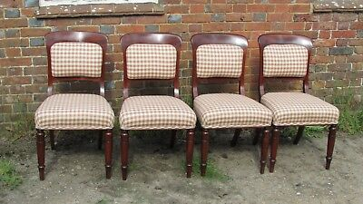 £370 • Buy Four Victorian Mahogany, Dining Chairs With Upholstered Seats & Backs.  C1850