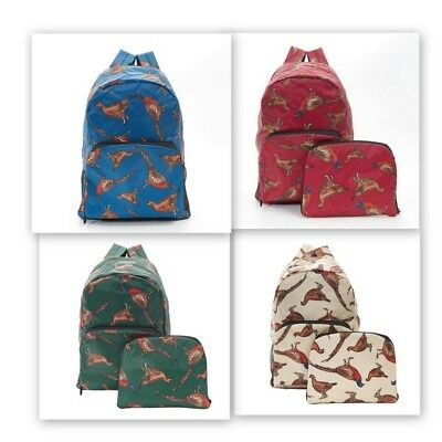 Eco Chic Novelty Expanding  Backpack - Pheasant And Stag Designs • 15£