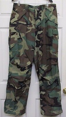 $54.95 • Buy US GI M65 Field Pants Trousers Woodland Camo Cold Weather Large Regular NOS 1985