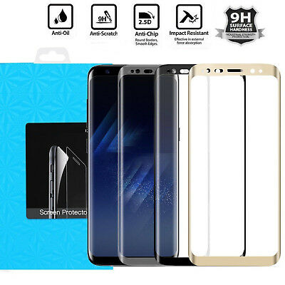 $ CDN6.75 • Buy For Samsung Galaxy S9 S8 Plus Note 9 8 4D Full Tempered Glass Screen Protector
