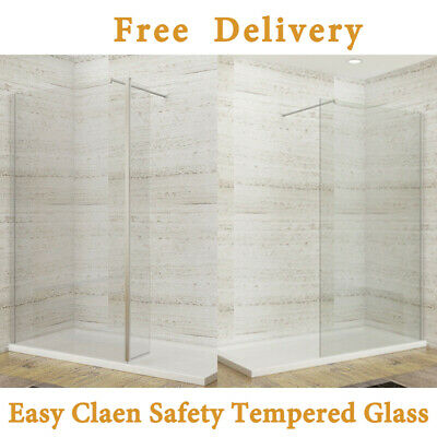 Walk In Wet Room Shower Enclosure Screen Panel Easy Clean Glass Cubicle And Tray • 255.99£