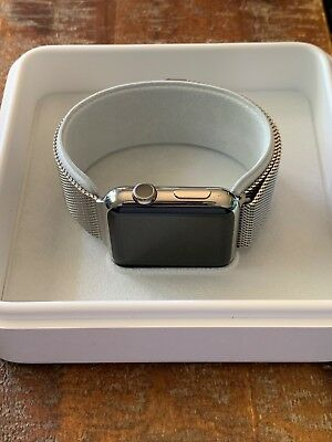 AU398 • Buy Apple Watch Stainless Steel 42mm (1st Gen) Milanese Loop Band Great Condition