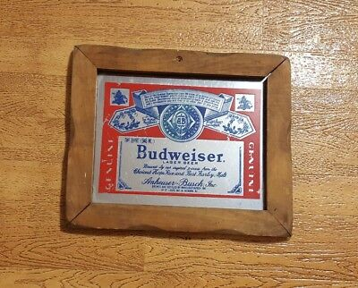$ CDN25.31 • Buy Budweiser Lager Beer Mirror Sign Man Cave 10x8