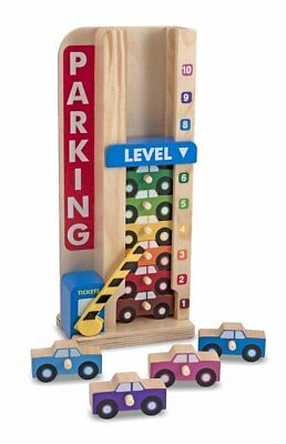 £16.88 • Buy Melissa & Doug Kids Toy - Stack & Count Wooden Parking Garage With 10 Cars