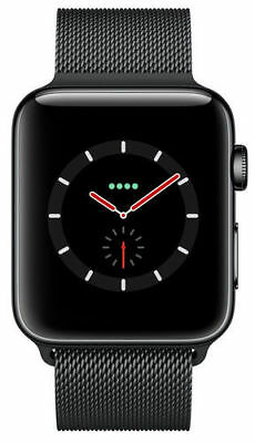 $ CDN593.17 • Buy New Apple Watch Series 3 42mm Black Stainless Steel Space Milanese GPS Cellular