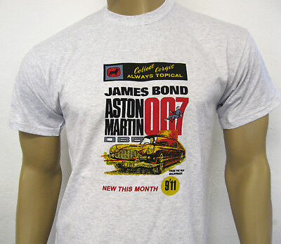 ASTON MARTIN DB5 T-SHIRT - James Bond 007 Goldfinger Retro Toy Car Model Advert • 12.50£
