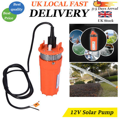 Submersible Deep Well Water Pump Solar Battery For Pond Garden Watering DC12V • 69.10£