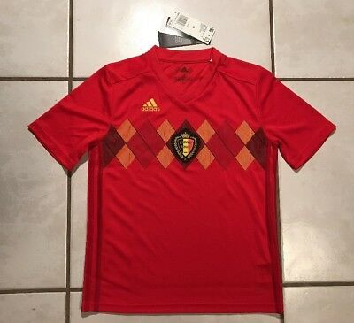 22be36ff6 NWT ADIDAS Belgium National Team Soccer Jersey Youth Medium • 69.99
