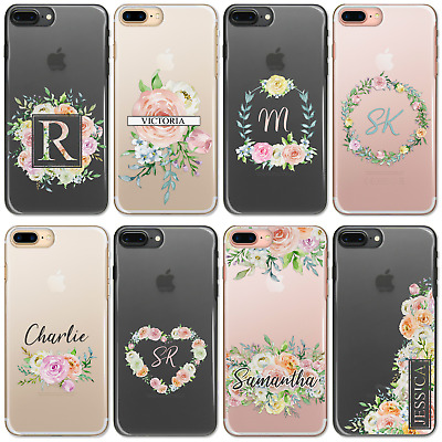 AU12.61 • Buy Personalised Initials Flower 6 5t 5 3t 3 Case Clear Hard Cover For Oneplus Phone