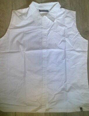 Ladies Show Shirt Horse Riding Competition Jumping White Sleeveless NEW Rockfish • 7.89£
