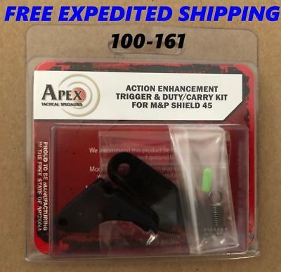 $132.95 • Buy New Apex Tactical For M&P Shield 45 Action Enhancement Trigger & Duty/Carry Kit