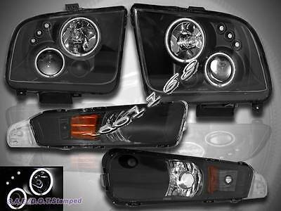 $220.99 • Buy 2005 06 07 08 09 Ford Mustang Ccfl Twin Halo Projector Headlights +bumper Lights