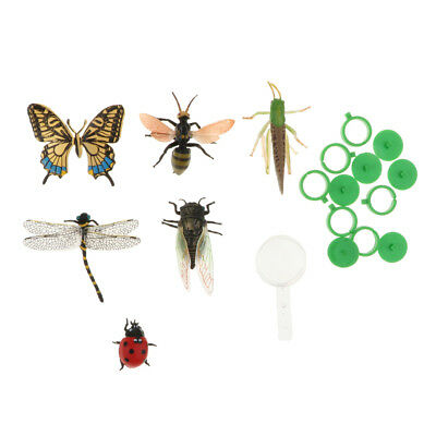£4.23 • Buy 6-piece Plastic Insects Bug Animals Figures Ladybird Dragonfly Bee Model Toy