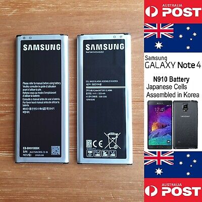 AU26 • Buy Genuine Samsung Galaxy Note 4 N910 Made In KOREA Original EB-BN910BBK Battery