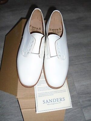 Sander Womens Royal Navy White Leather Tropical Shoes Size 4m Genuine Issue • 60£