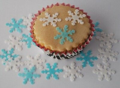 £2.99 • Buy 50 Edible Snowflake Cupcake / Cake Toppers Wafer / Rice Paper Decoration