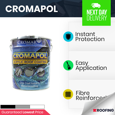 £92.99 • Buy Cromapol   Acrylic Roof Coat   Roof Paint Sealant   Instant Protection 20kg