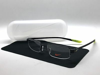 b3362d0b18 Authentic Nike Semi Rimless Eyeglasses 4275 003 Black Frames 53MM • 59.97